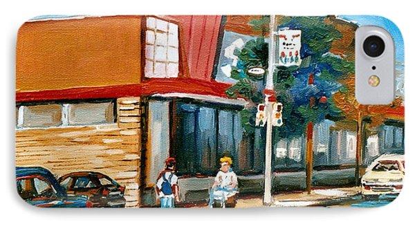 Steinberg's  On Van Horne Street Outremont Montreal Landmarks Phone Case by Carole Spandau