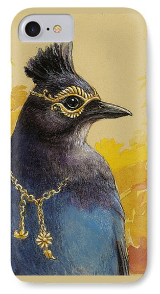 Steller's Jay Goes To The Ball IPhone Case by Tracie Thompson