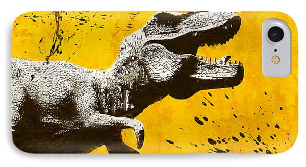Dinosaur iPhone 7 Case - Stencil Trex by Pixel Chimp