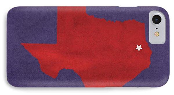 Stephen F Austin University Lumberjacks Nacogdoches Texas College Town Map Pillow IPhone Case