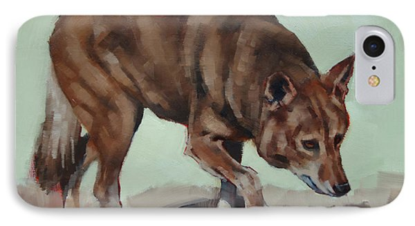 IPhone Case featuring the painting Steppin' Wolf by Margaret Stockdale