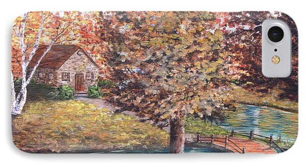 Stepping Into Autumn IPhone Case by Kevin F Heuman