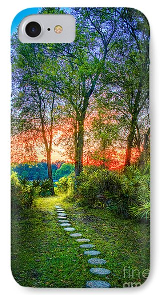 Stepping Stones To The Light IPhone Case by Marvin Spates