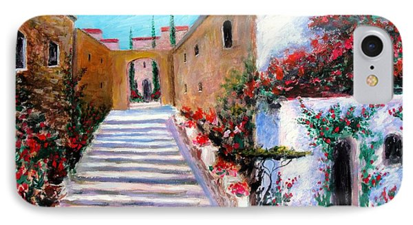 IPhone Case featuring the painting Steps Of Beauty by Larry Cirigliano