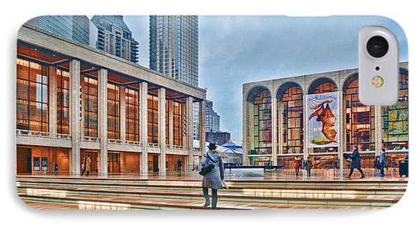 Steps To Fame Lincoln Center IPhone Case by Jeffrey Friedkin