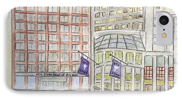 Nyu Stern School Of Business IPhone Case by AFineLyne