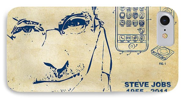 Steve Jobs Iphone Patent Artwork Vintage IPhone Case by Nikki Marie Smith