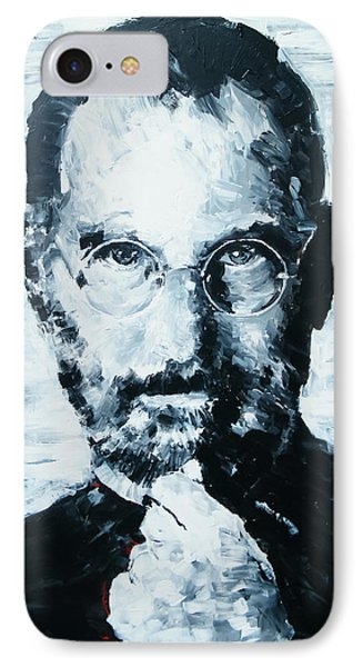 Steve Jobs Phone Case by Michael Leporati