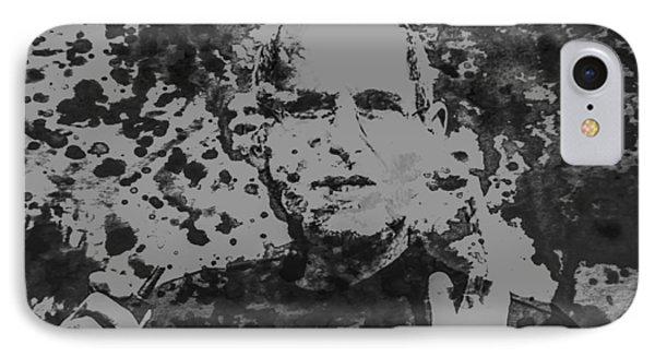 Steve Jobs Paint Splatter 3b IPhone Case by Brian Reaves