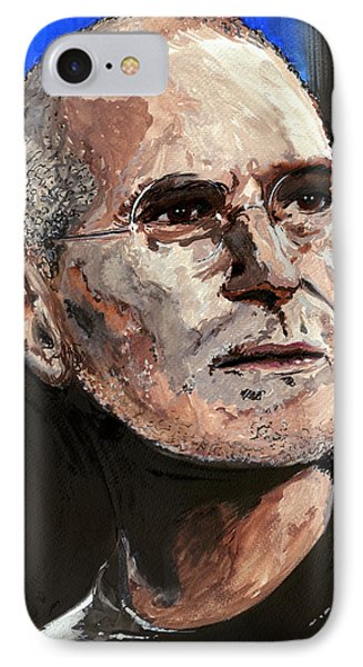 IPhone Case featuring the painting Steven Paul Jobs by Gordon Dean II
