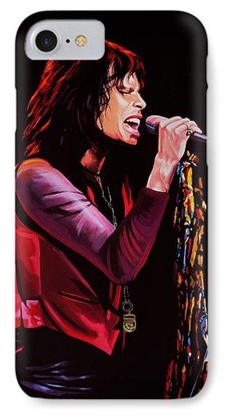 Steven Tyler In Aerosmith IPhone 7 Case by Paul Meijering