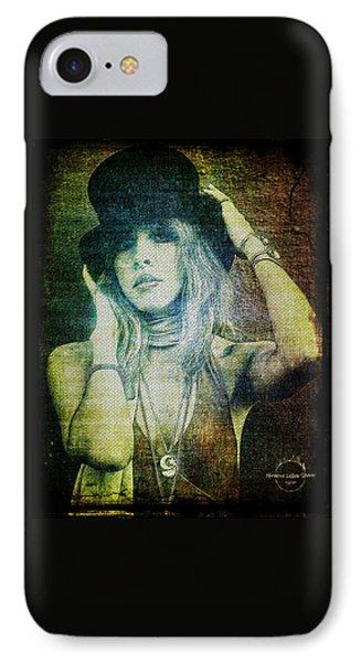 Rock And Roll iPhone 7 Case - Stevie Nicks - Bohemian by Absinthe Art By Michelle LeAnn Scott