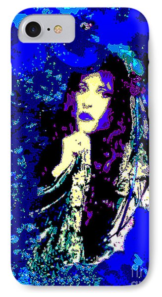 Stevie Nicks In Blue IPhone Case