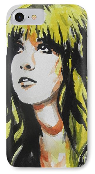 Stevie Nicks 01 IPhone Case by Chrisann Ellis
