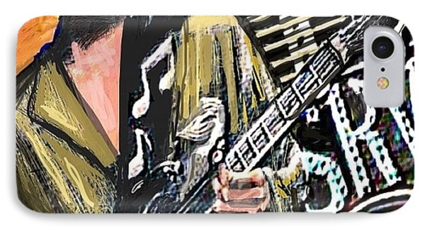 Stevie Ray Vaghn IPhone Case by Larry E Lamb