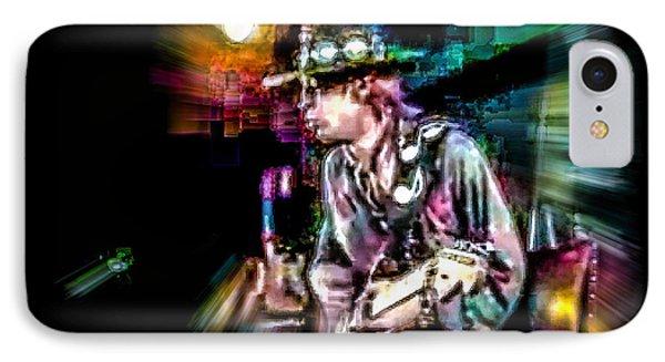 IPhone Case featuring the photograph Stevie Ray Vaughan - Smokin' by Glenn Feron