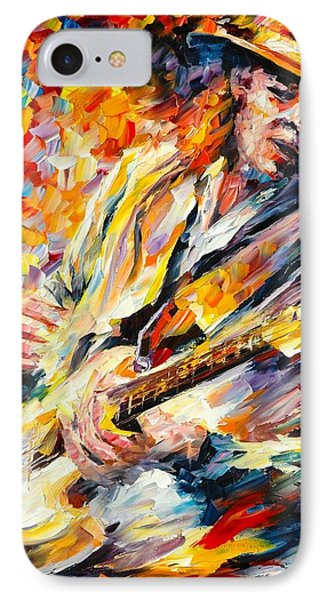 Stevie Ray Vaughan Phone Case by Leonid Afremov
