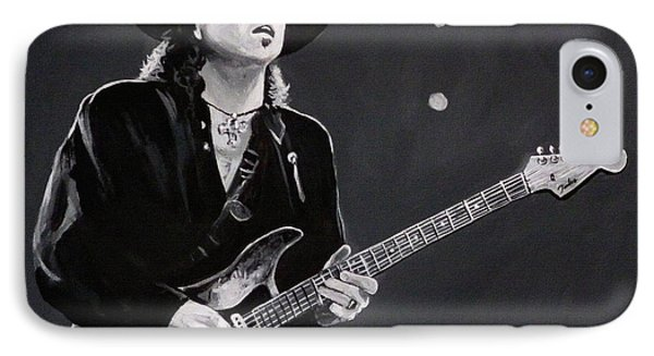 Stevie Ray Vaughan Phone Case by Tom Carlton