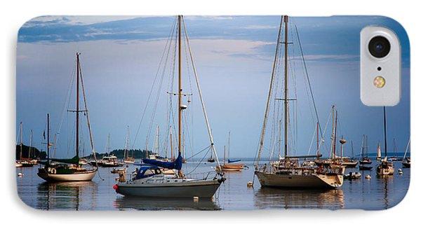 Still Harbor IPhone Case by Deborah Scannell