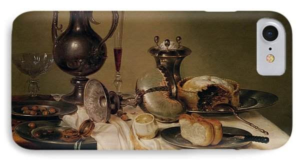 Still Life, 1642 Oil On Canvas IPhone Case by Willem Claesz. Heda