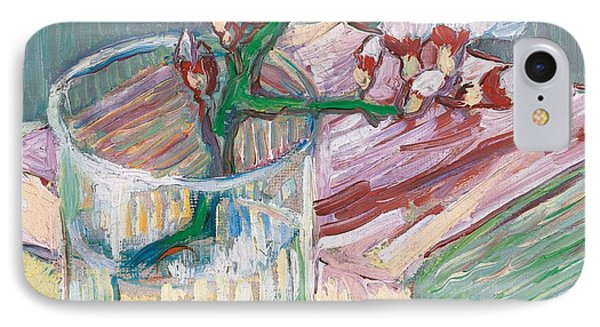 Still Life    A Flowering Almond Branch Phone Case by Vincent Van Gogh