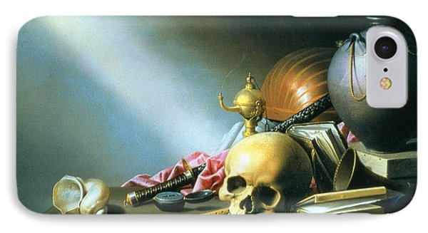Still Life An Allegory Of The Vanities Of Human Life IPhone Case by Harmen van Steenwyck