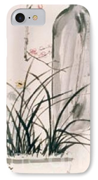 IPhone Case featuring the painting Still Life And Flower by Fereshteh Stoecklein