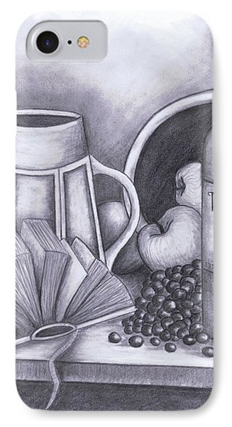 Still Life Drawing IPhone Case by Kamil Swiatek
