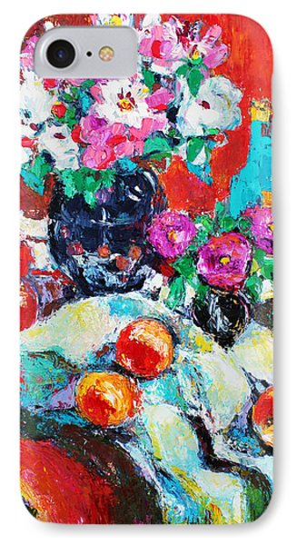 Still Life In Studio With Blue Bottle Phone Case by Becky Kim