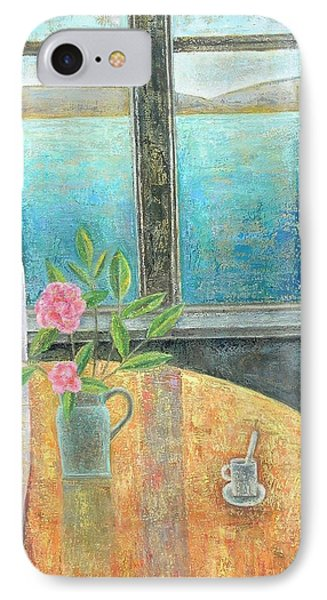 Still Life In Window With Camellia, 2012, Oil On Canvas IPhone Case by Ruth Addinall