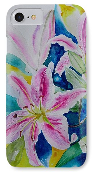 Still Life Lilies IPhone Case by Geeta Biswas