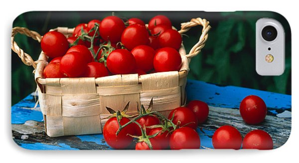 Still Life Of Cherry Tomatoes IPhone Case by Panoramic Images