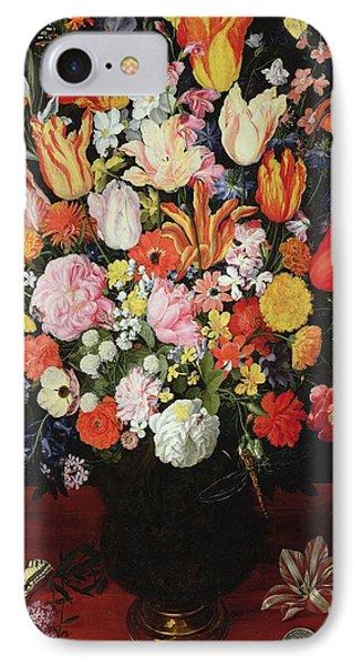 Still Life Of Flowers IPhone Case by Kasper or Gaspar van den Hoecke
