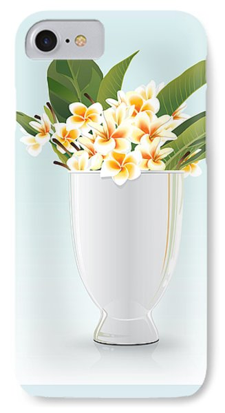 Still Life Of Frangipani Phone Case by Prakaisak Rojprasert
