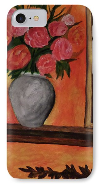 IPhone Case featuring the painting Still Life On The Mantle by Christy Saunders Church