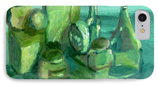Still Life Study In Green Phone Case by Greg Mason Burns