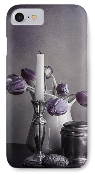 Still Life Study In Purple Phone Case by Terry Rowe