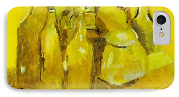 Still Life Study In Yellow Phone Case by Greg Mason Burns