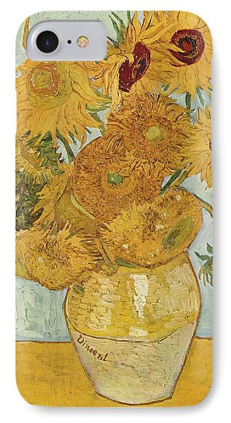 Still Life Sunflowers Phone Case by Vincent Van Gogh