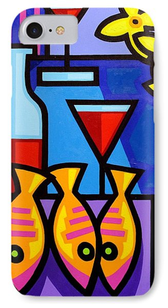 Still Life With 3 Fish  IPhone Case by John  Nolan