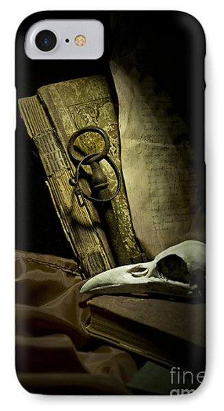 Still Life With A Bird Skull Phone Case by Jaroslaw Blaminsky