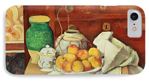 Still Life With A Chest Of Drawers Phone Case by Paul Cezanne