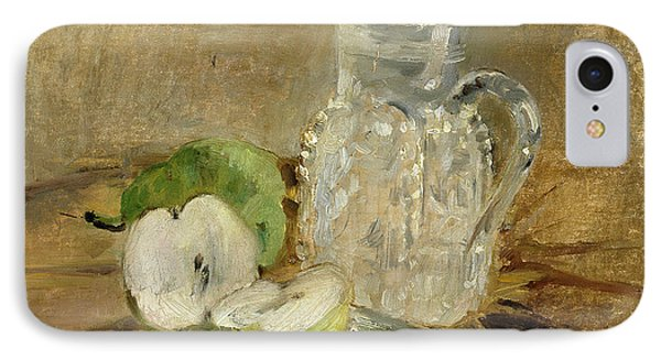 Still Life With A Cut Apple And A Pitcher Phone Case by Berthe Morisot