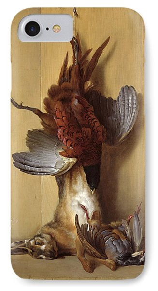 Still Life With A Hare, A Pheasant And A Red Partridge IPhone 7 Case by Jean-Baptiste Oudry
