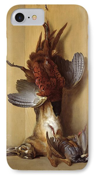 Still Life With A Hare, A Pheasant And A Red Partridge IPhone Case by Jean-Baptiste Oudry