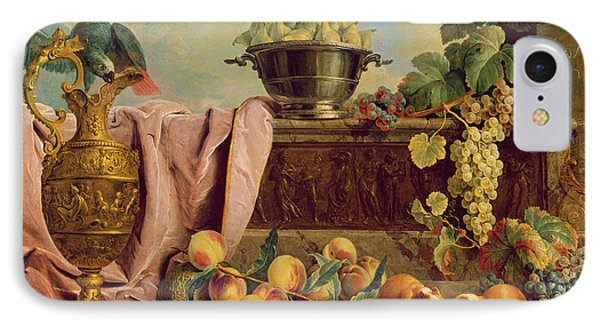 Still Life With A Jug, 1734 Oil On Canvas IPhone Case by Alexandre-Francois Desportes
