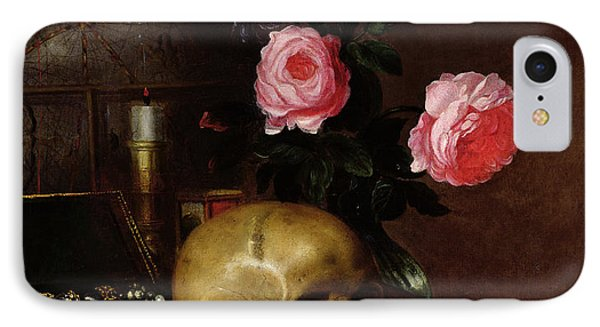 Still Life With A Skull Oil On Canvas IPhone Case by Letellier