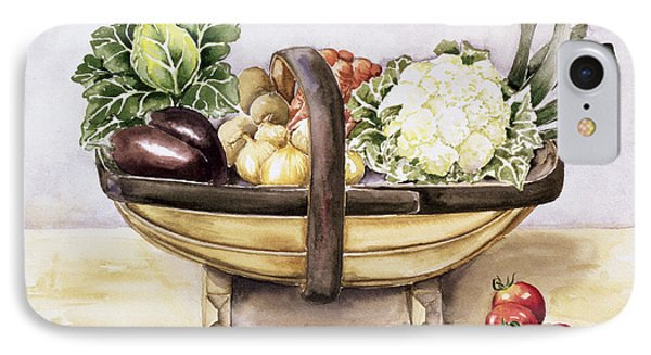 Still Life With A Trug Of Vegetables IPhone 7 Case by Alison Cooper