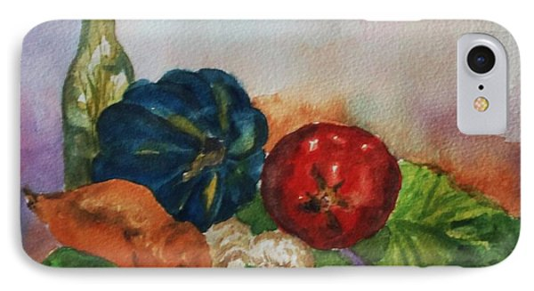 IPhone Case featuring the painting Still Life With Bottle by Ellen Levinson