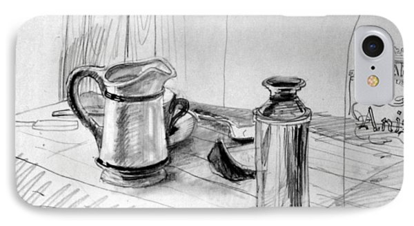 Still Life With Creamer IPhone Case by Mark Lunde